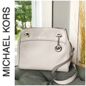 NWT authentic MK leather Convertible shoulder bag